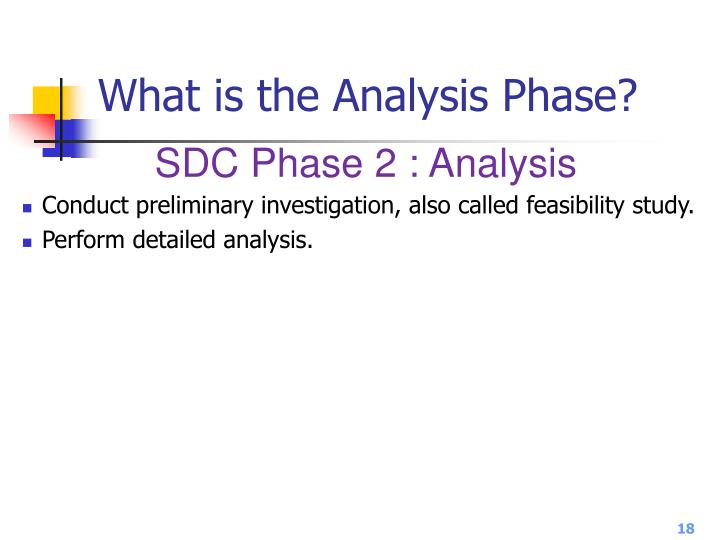 What is the Analysis Phase?