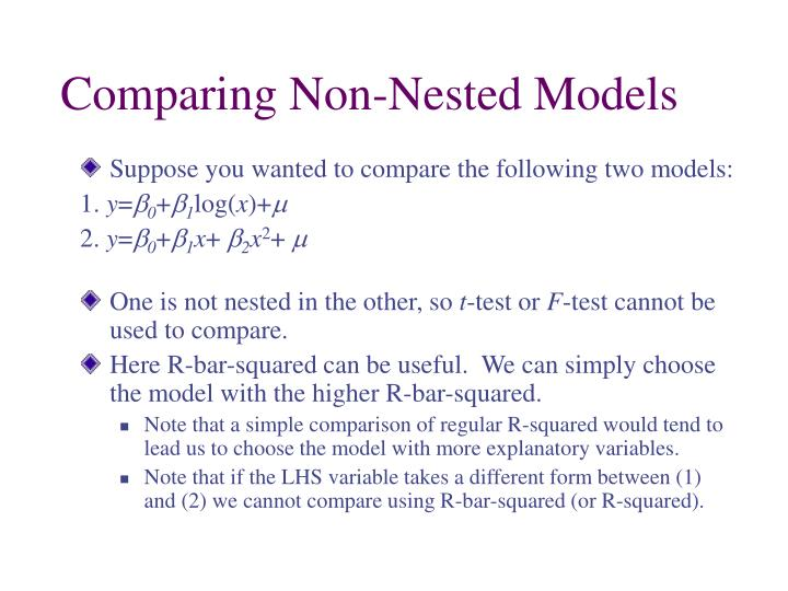 Comparing Non-Nested Models