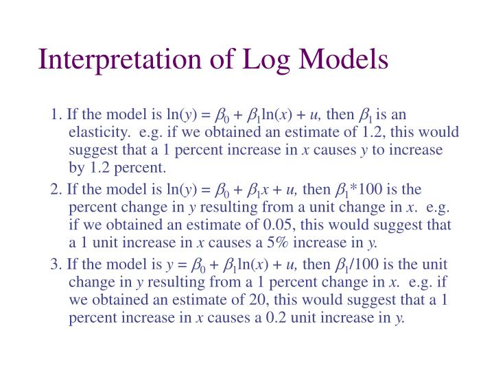 Interpretation of Log Models