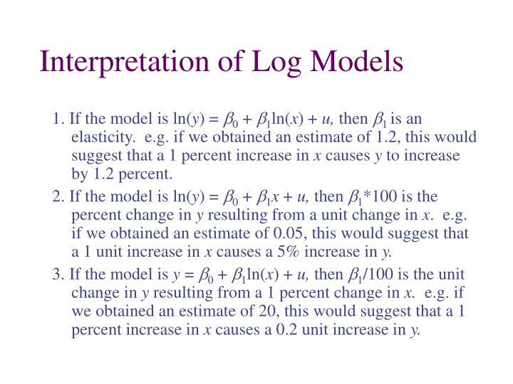 Interpretation of Log Models
