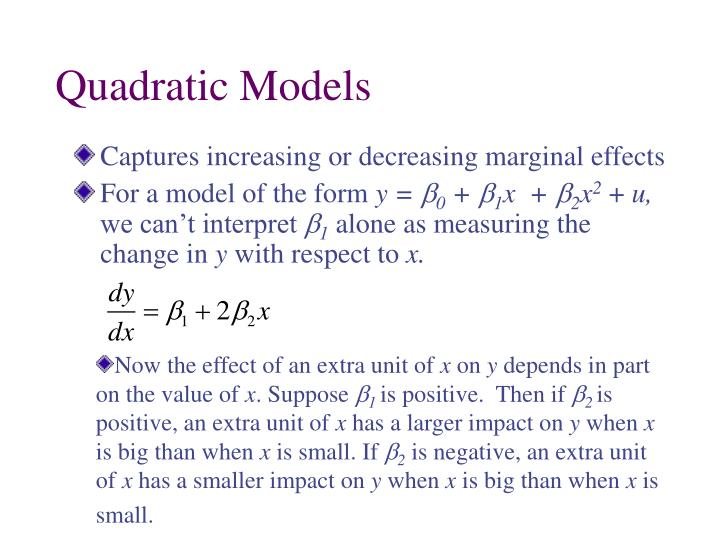 Quadratic Models