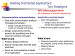building distributed applications two paradigms