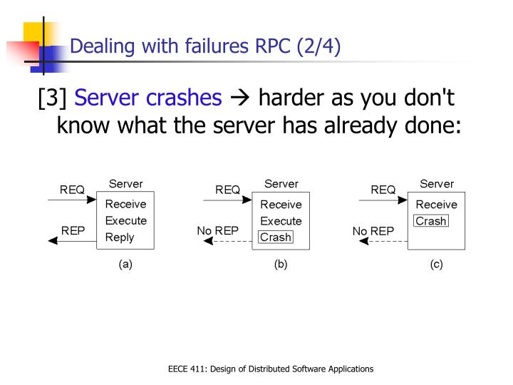 Dealing with failures RPC (2/4)