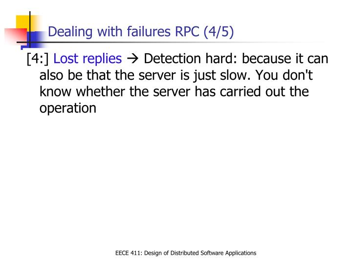 Dealing with failures RPC (4/5)