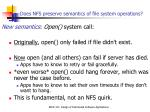 does nfs preserve semantics of file system operations