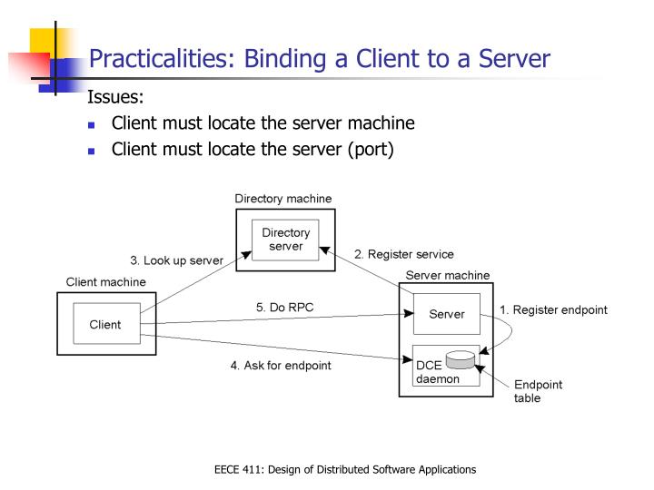 Practicalities: Binding a Client to a Server