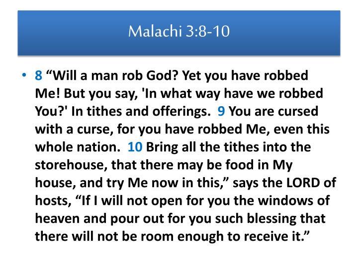 Malachi 3:8-10