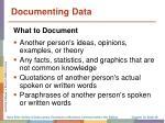 documenting data1