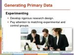 generating primary data4