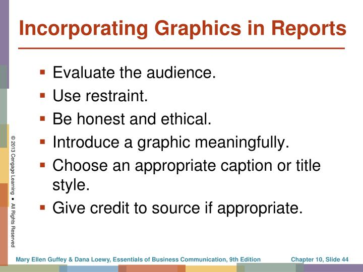 Incorporating Graphics in Reports