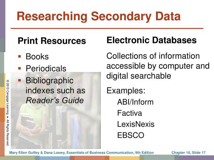 Researching Secondary Data