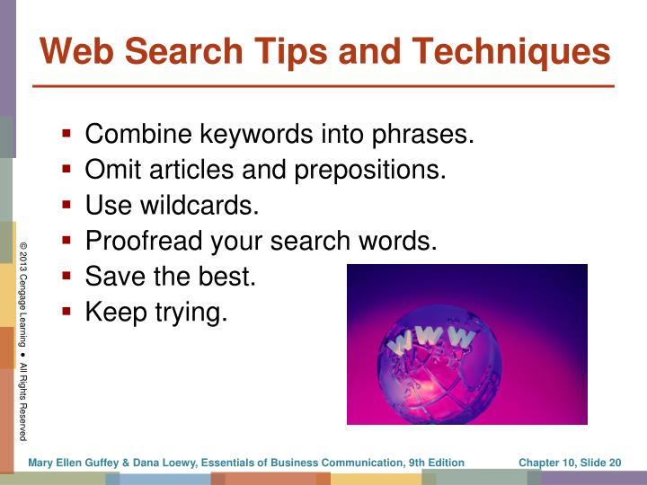 Web Search Tips and Techniques