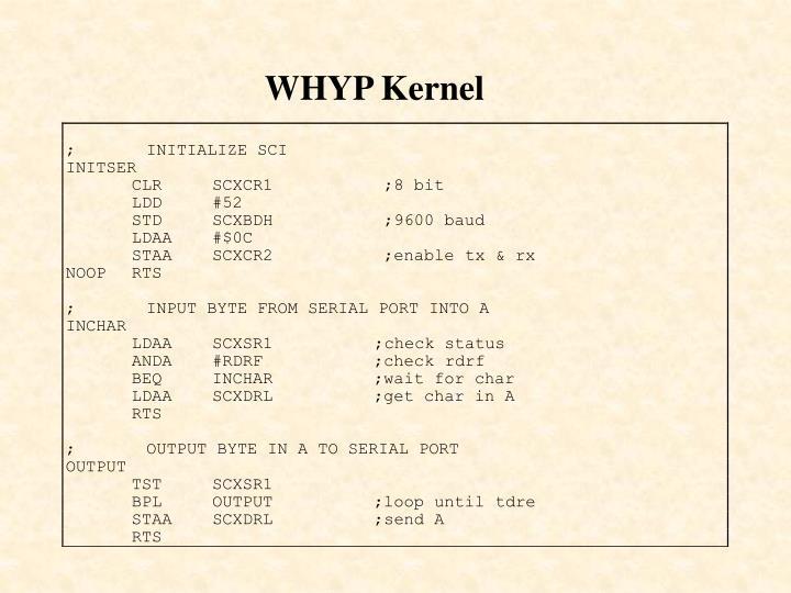 WHYP Kernel