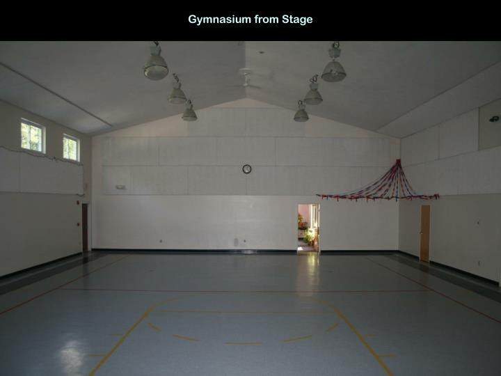 Gymnasium from Stage