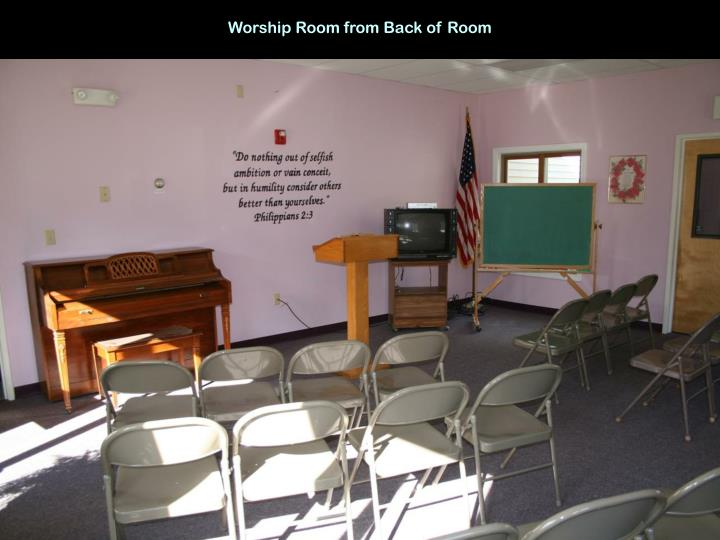 Worship Room from Back of Room