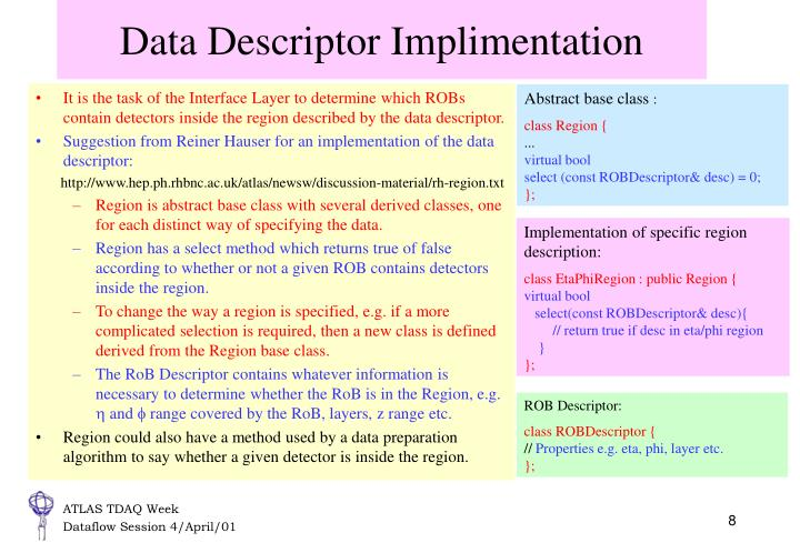 Data Descriptor Implimentation