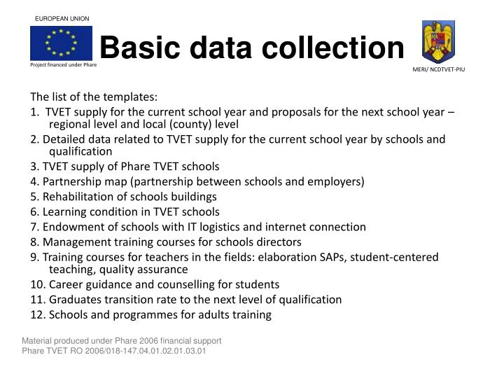 Basic data collection