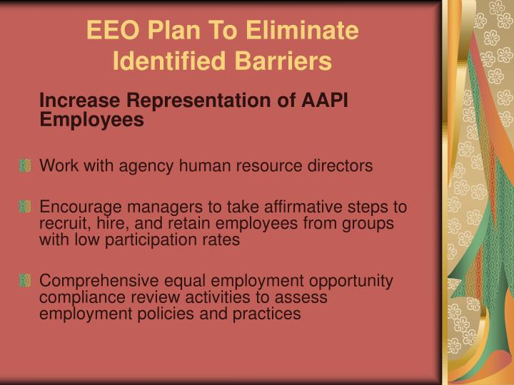 EEO Plan To Eliminate