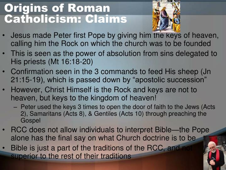 Origins of Roman Catholicism: Claims
