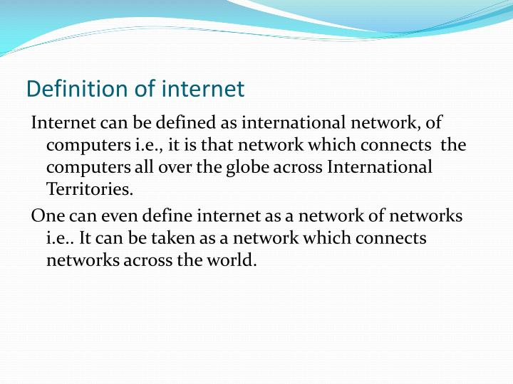 Definition of internet