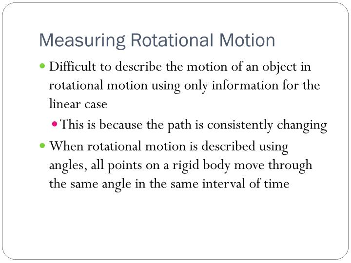 Measuring rotational motion1
