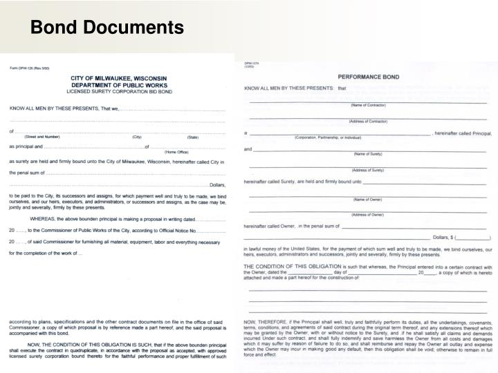 Bond Documents