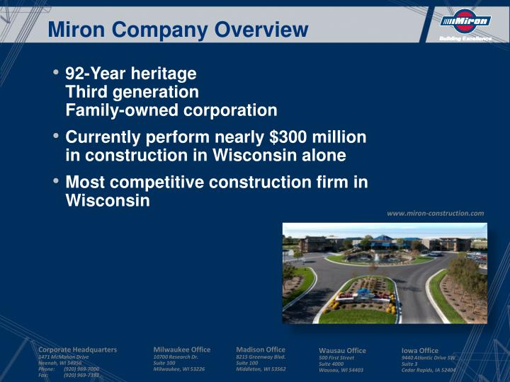 Miron Company Overview