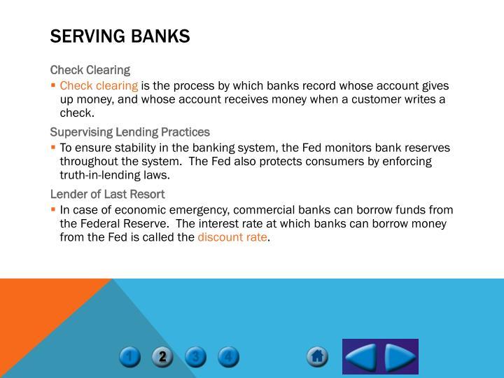 Serving Banks