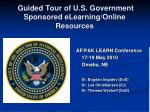 guided tour of u s government sponsored elearning online resources