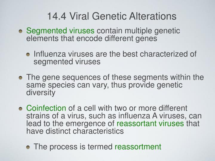 14.4 Viral Genetic Alterations