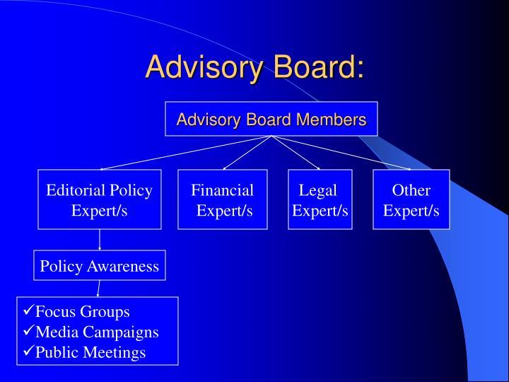 Advisory Board: