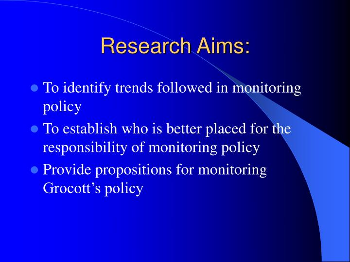 Research Aims:
