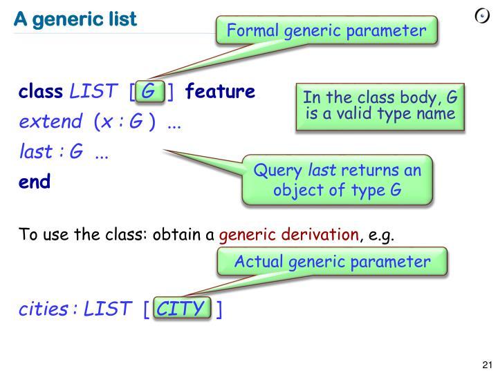 Formal generic parameter