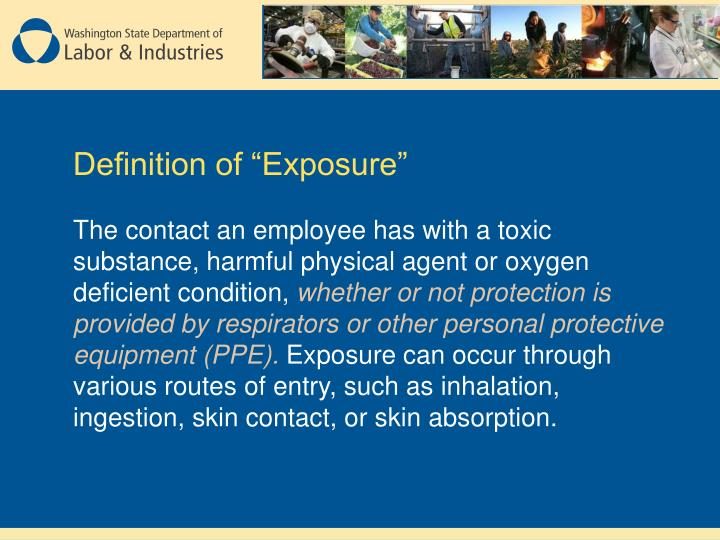 """Definition of """"Exposure"""""""