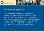 definition of exposure