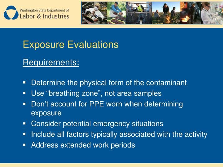 Exposure Evaluations