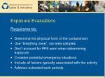 exposure evaluations1