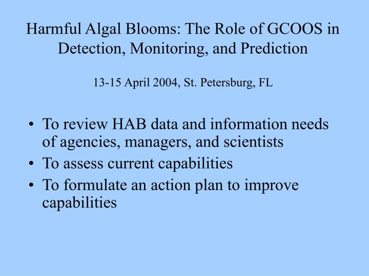 Harmful Algal Blooms: The Role of GCOOS in Detection, Monitoring, and Prediction