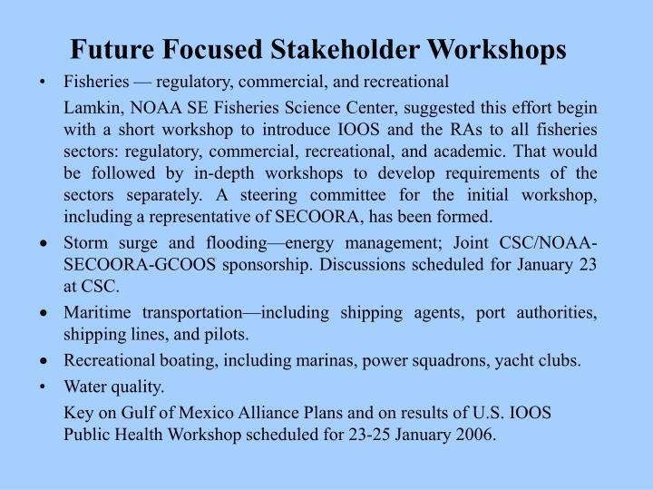 Future Focused Stakeholder Workshops