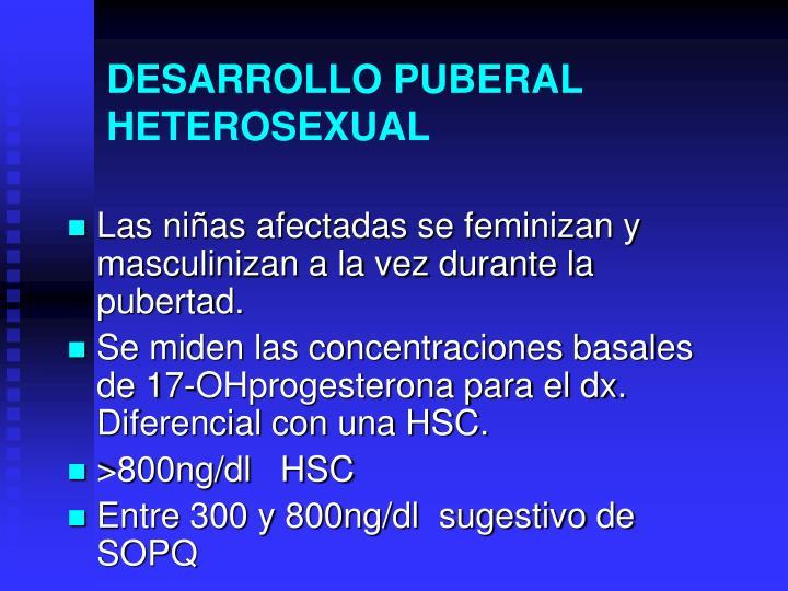DESARROLLO PUBERAL HETEROSEXUAL