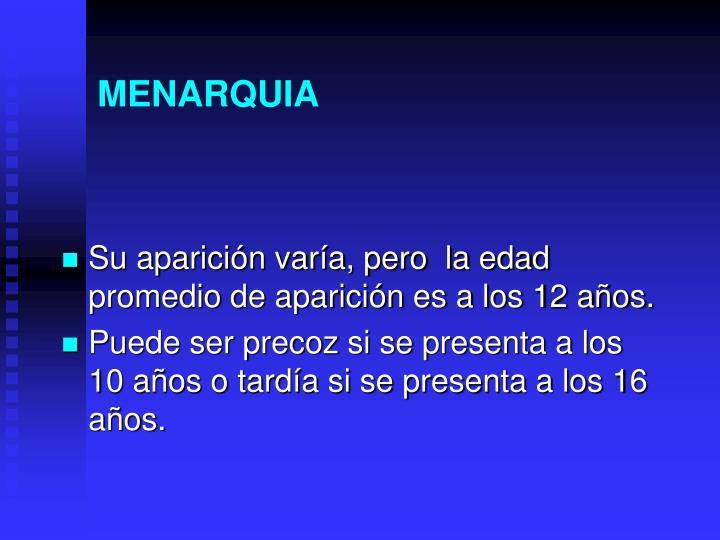 MENARQUIA