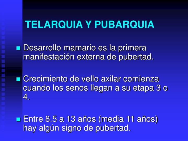 TELARQUIA Y PUBARQUIA