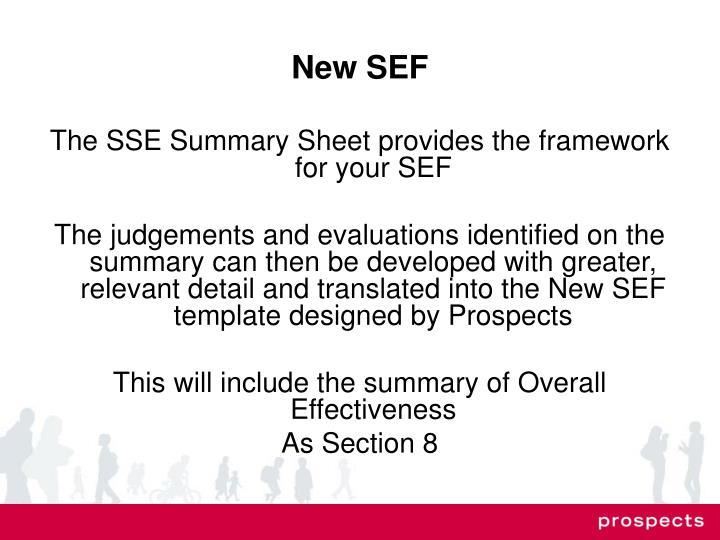 New SEF