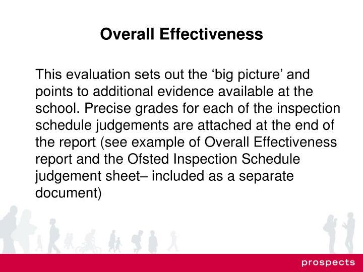 Overall Effectiveness