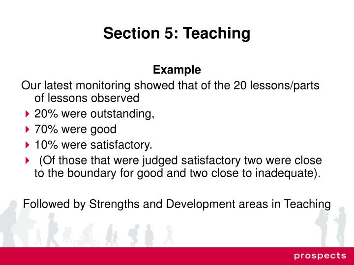 Section 5: Teaching
