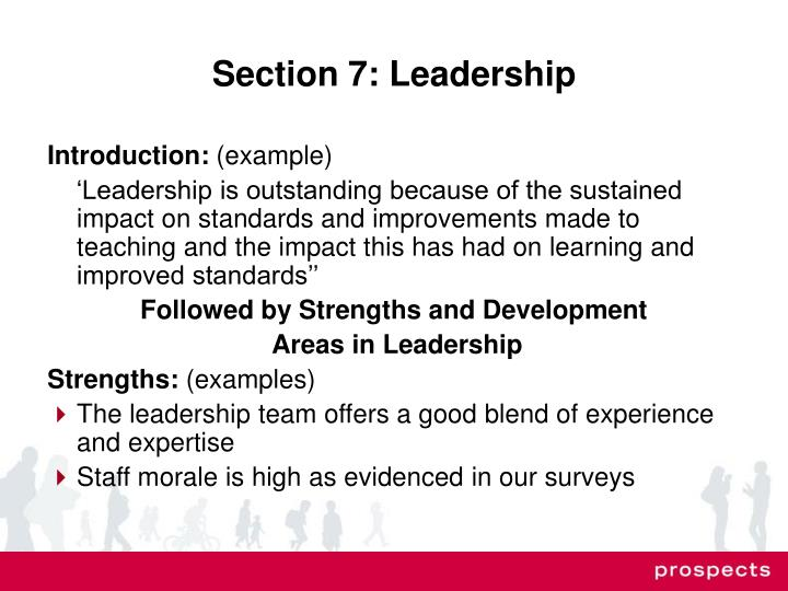Section 7: Leadership