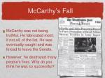 mccarthy s fall