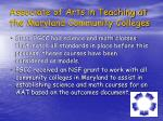 associate of arts in teaching at the maryland community colleges1