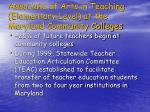 associate of arts in teaching elementary level at the maryland community colleges