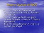 inquiry courses at pgcc